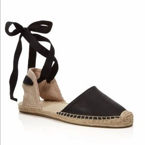 Soludos Leather Lace Up Espadrilles